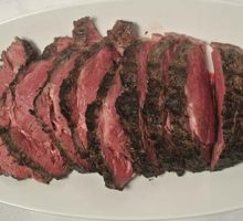 carved buffalo rib eye roast
