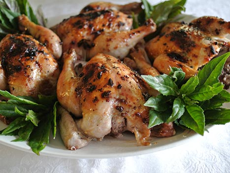 Roasted Poussin with Blood Orange and herbs - Viva Gourmet