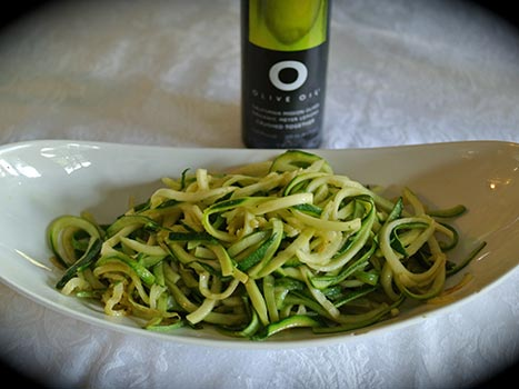 zucchini with meyer lemon oil